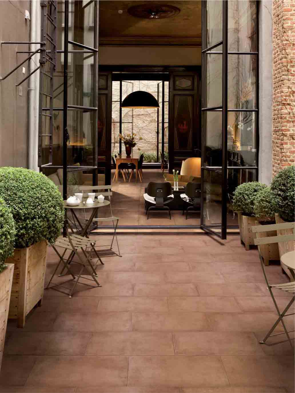 Carrelage terrasse - STYLE TERRE CUITE | Espace Quintane